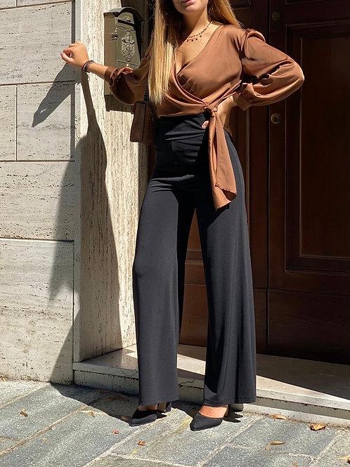 Pantalone a palazzo con baschina