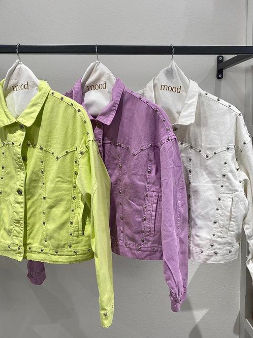Giacca di jeans con borchie - 3 colori