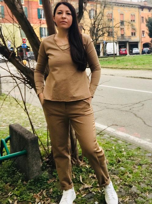 Pantaloni tuta con banda in raso - 3 colori