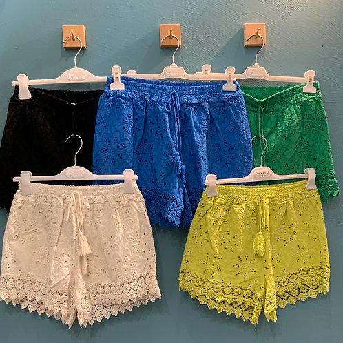 Short sangallo - 5 colori