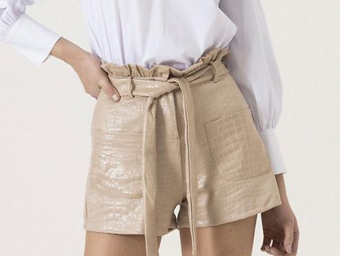Pantaloncino - ecopelle battuto cocco