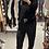 Thumbnail: Pantalone tuta in velluto nero