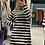 Thumbnail: Abito in maglia a righe bianco e nero