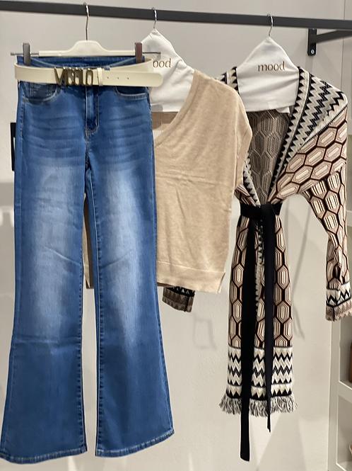 Jeans elasticizzato zampa - n. 14