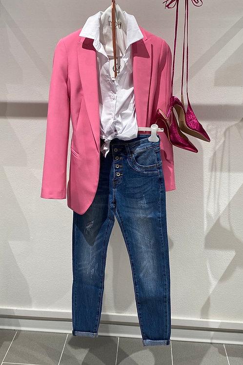 Jeans elasticizzato con bottoni  n. 5