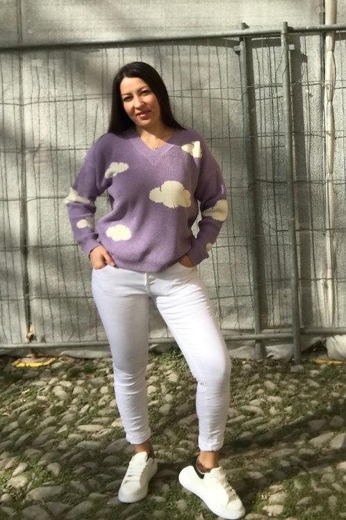 Jeans bianco stropicciato
