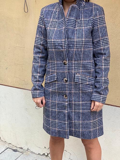 Cappotto lana quadri