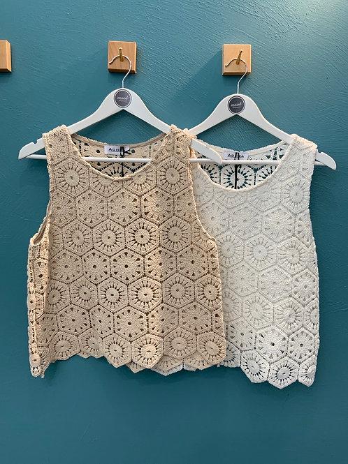 Top crochet 100% viscosa - 2 colori