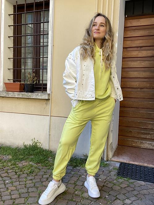 Pantalone della tuta lime
