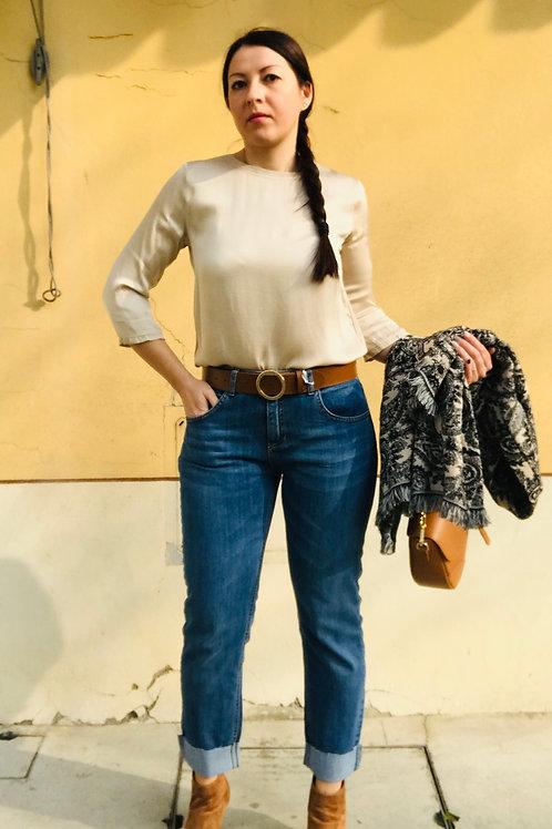 Jeans  con risvolto taglio vivo - n. 7
