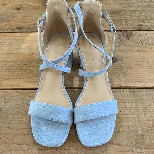 Sandali tacco azzurro