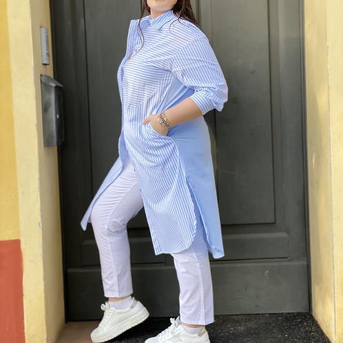 Camicia cotone lunga over - Mealys