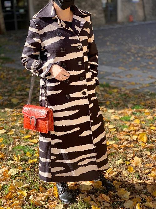 Cappotto zebrato lungo