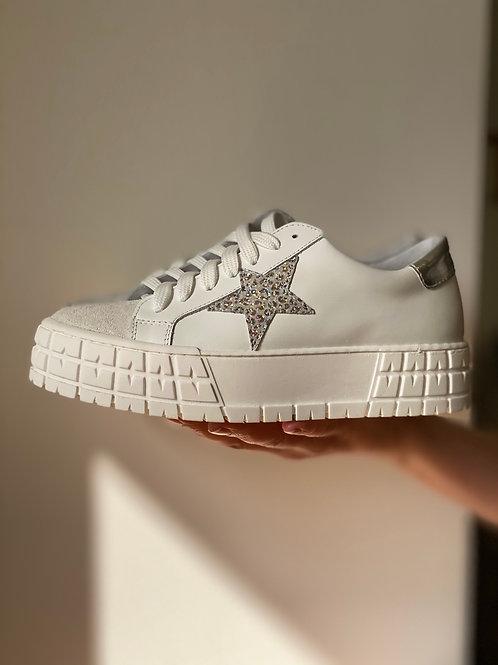 Sneakers stella e rialzo