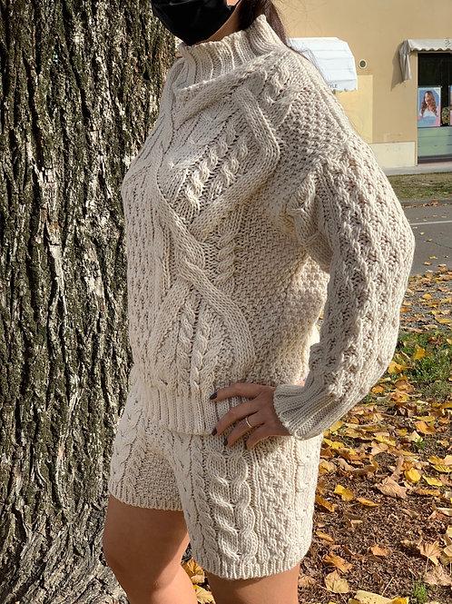 Shorts in maglia trecce - 2 colori