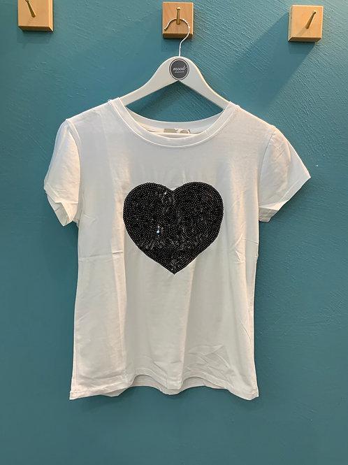 T-shirt cuore nero