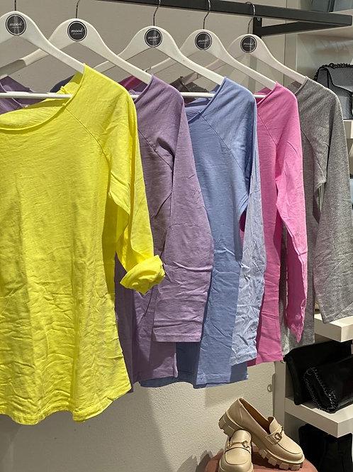 T-shirt 4 sfiancata manica lunga