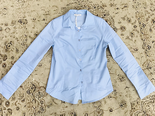 Camicia in cotone azzurra