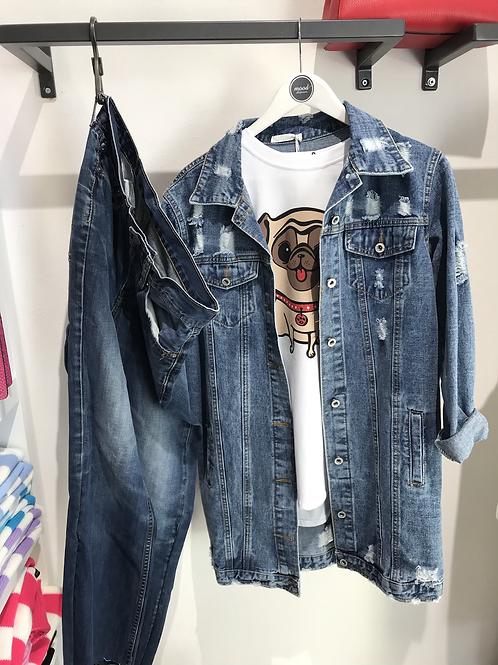 Giacca jeans lunga