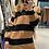 Thumbnail: Maxi maglia righe scollata V