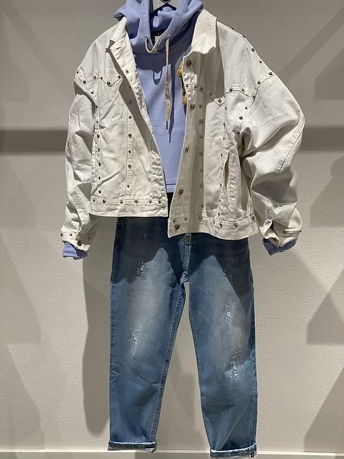 Jeans boy-friend elasticizzato n. 9