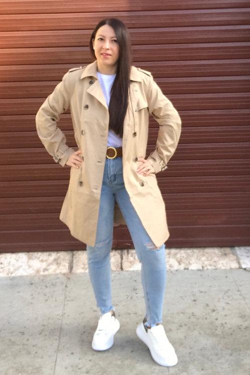 Trench coat cammello