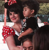 Minnie at a birthday party