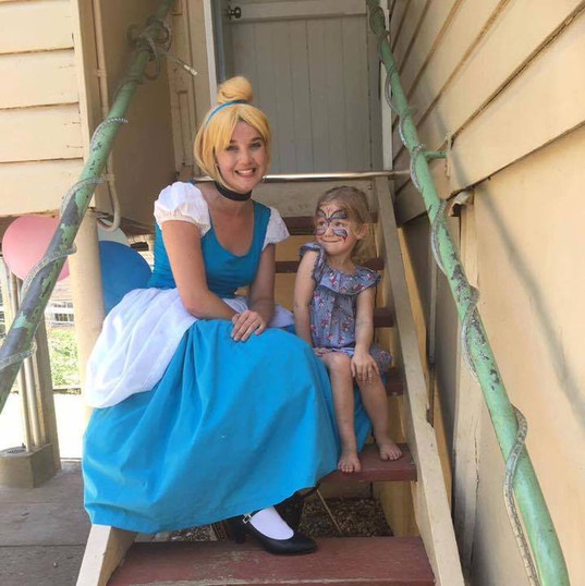 Cinderella made a visit for to a birthday party
