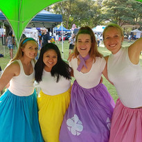 Facepainting girls at the Burwood Street Festival
