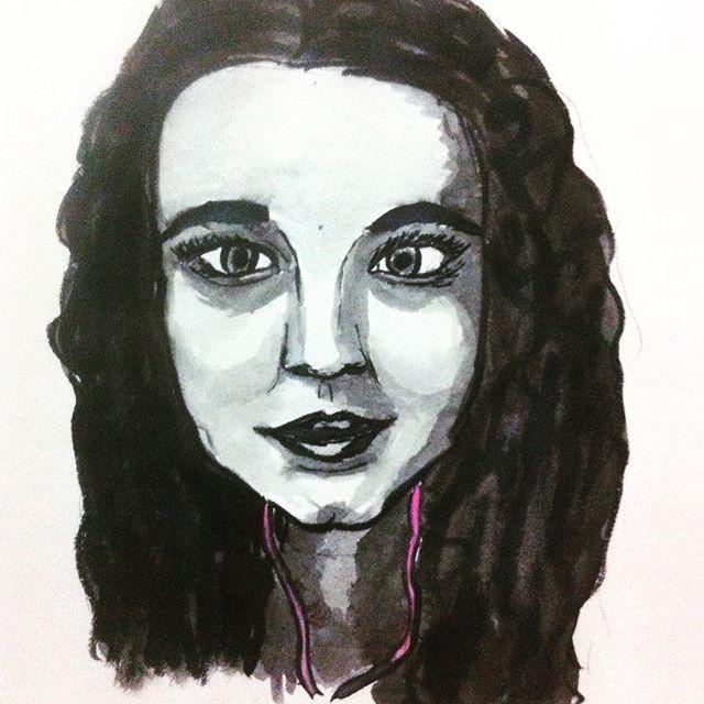 Watercolour portrait 26 Oct 2015