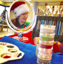 Facepainting at a chritsmas event