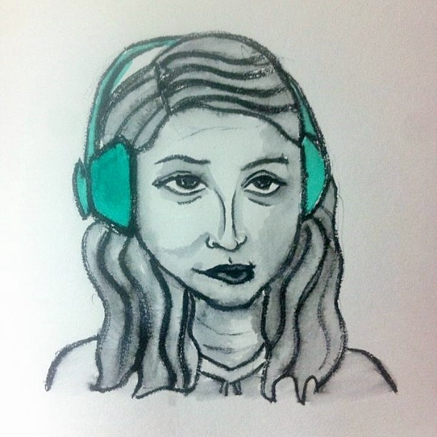 Merryn listening to music.jpg