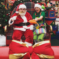 Balloons with Santa Clause