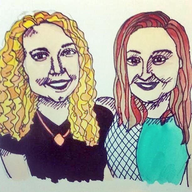 Maizie and Mez #inkpen #paints #babes
