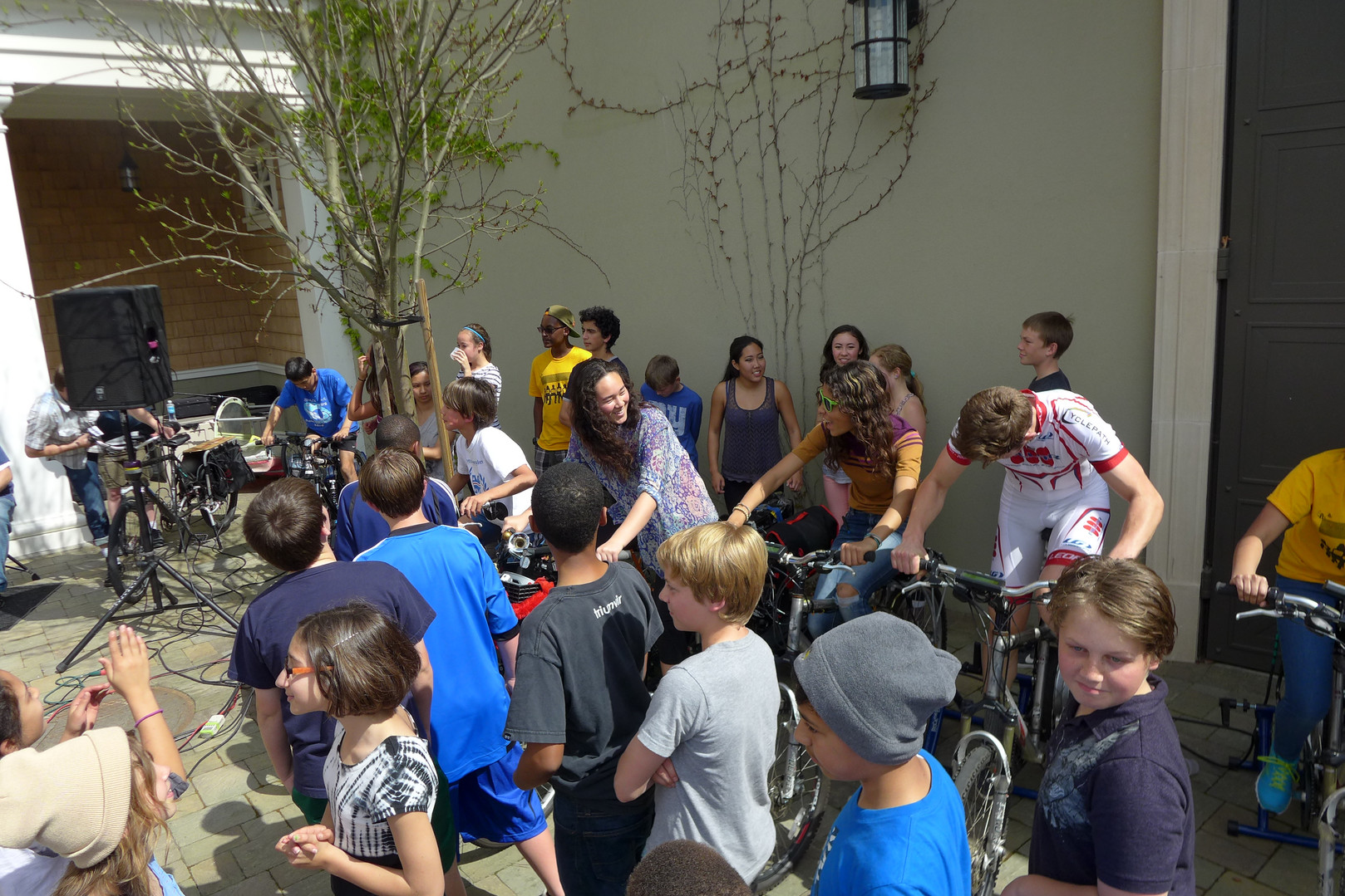 Kids pedal at Head Royce Academy