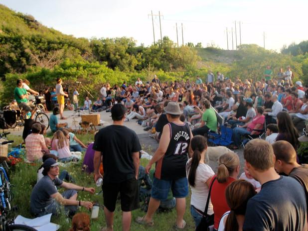 Rally to Save Rock Canyon 2009