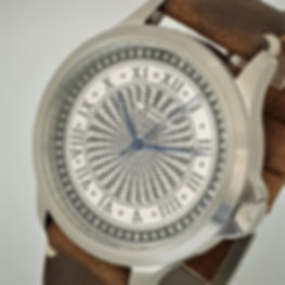 Spinning check guilloche - handmade watch from Wessex Watches