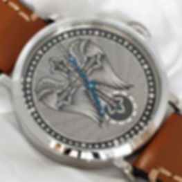 Custom engraved silver dial watch from Wessex Watches