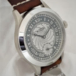 Double Spiral Guilloche - handmade watch from Wessex Watches
