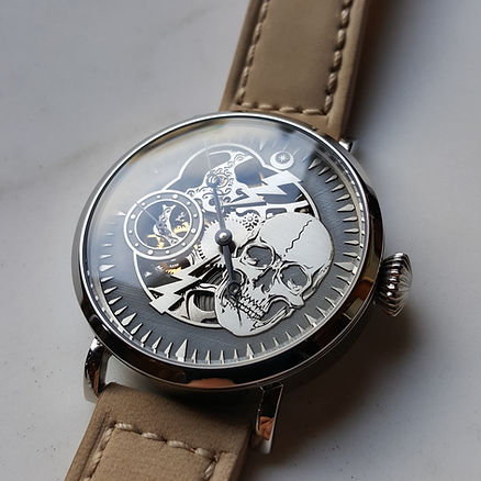 Wessex Watches 6497 skeleton custom watch