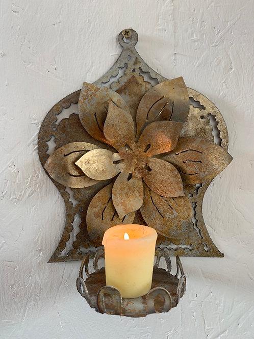 Golden lotus sconce