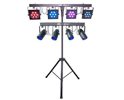 CHAUVET 4BAR LED Wash Light Kit + 4PLAY DMX Light