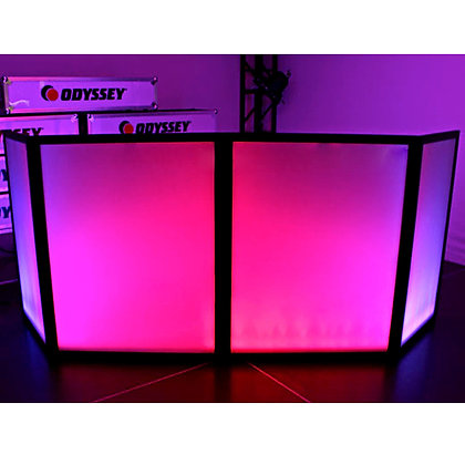 "72"" X 46"" White Mobile DJ Booth/Facade Glow Scrim"