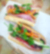 vietnamese cold cut banh mi sandwich is