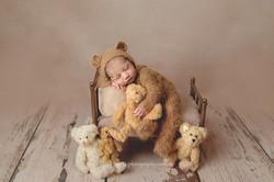 newborn with teddy bear photos