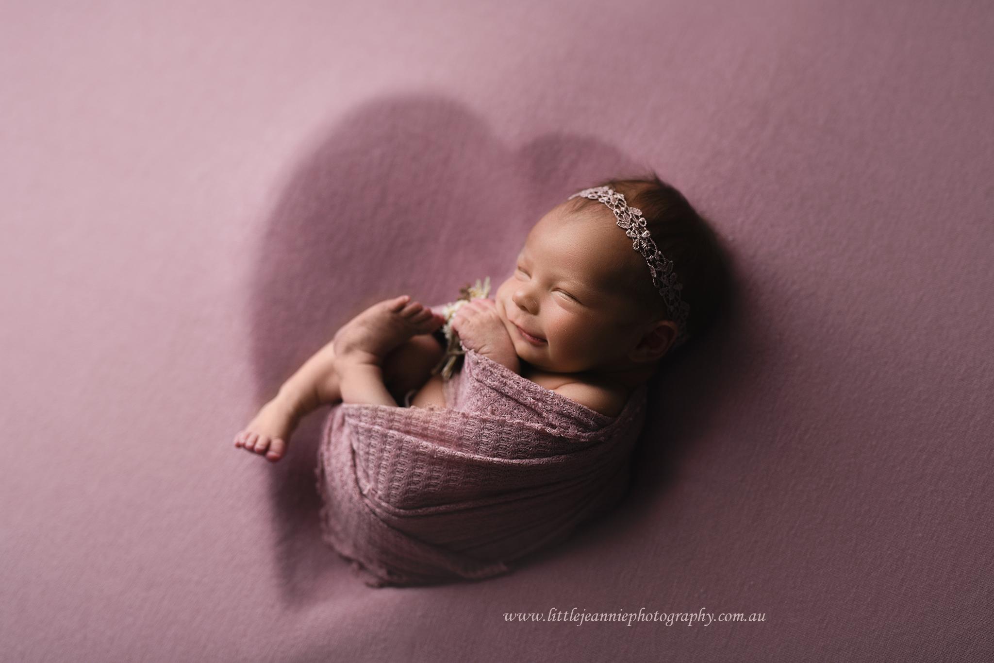 newborn in heart