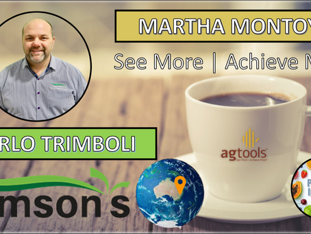 Martha Montoya, CEO of Ag Tools & Carlo Trimboli, Owner Samson's Fruit & Vegetable Supply
