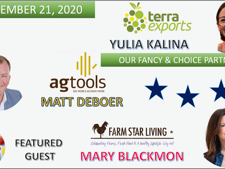 Yulia Kalina of Terra Exports, Matt DeBoer of AgTools & Mary Blackmon of Farm Star Living