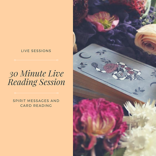 30 Minute Live Reading Session