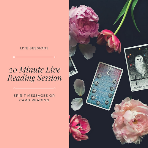 20 Minute Live Reading Session